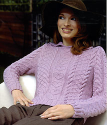 Jo Sharp SILKROAD ARAN knitting yarn, Jo Sharp SILKROAD ARAN knitting pattern, Modern Classics knitting book by Louisa Harding