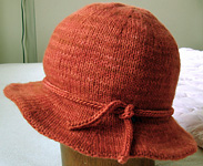 Knitted Bucket Hat Pattern : Malabrigo Worsted Merino - 194 cinnabar - at California Yarn Co.