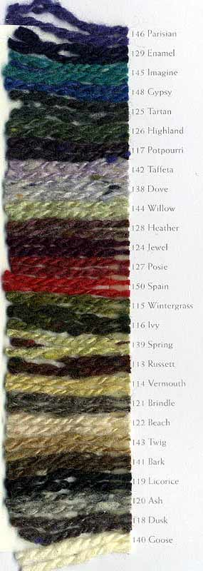 Jo Sharp Silkroad Aran Tweed knitting yarn, color card, cashmere yarn, silk yarn