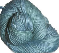 Malabrigo Silky Merino Yarn, color 411 green gray