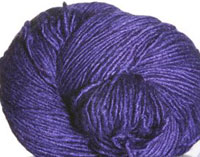 Malabrigo Silky Merino Yarn, color 30 purple mystery