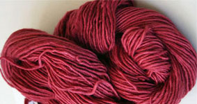 Malabrigo Silky Merino Yarn, color 401 raspberry