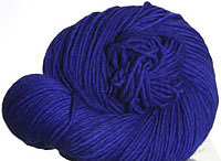 Malabrigo Merino Worsted Yarn, color azul bolita 80