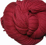 Malabrigo Worsted Merino Yarn, color ravelry red 611
