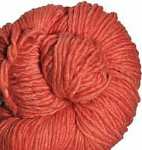 Malabrigo Merino Worsted Yarn, color tiger lily 152
