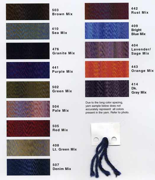 Reynolds Odyssey knitting yarn color card