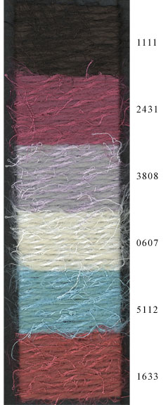 Adrienne Vittadini Antonia yarn color card