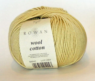 Rowan Wool Cotton mellow yellow 942 on sale