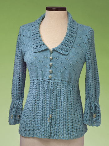 Vermont Fiber Designs Empire Waist Cardigan knitting pattern