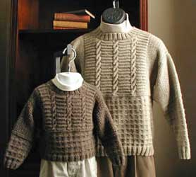 Lisa Knits Father-Son Sweater Set