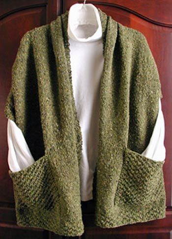 Lisa Knits Reader's Wrap knitting pattern