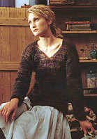 Jo Sharp Ribbed Mohair Sweater Pattern, Jo Sharp Rare Comfort Infusion Kid Mohair knitting yarn.