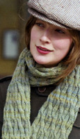 Reynolds Odyssey Cable Scarf Kit,  merino wool knitting yarn