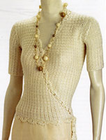 Adrienne Vittadini Celia Crocheted Wrap Top knitting pattern