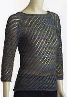Adrienne Vittadini Nicole Diagonal Lace Raglan Pullover knitting pattern