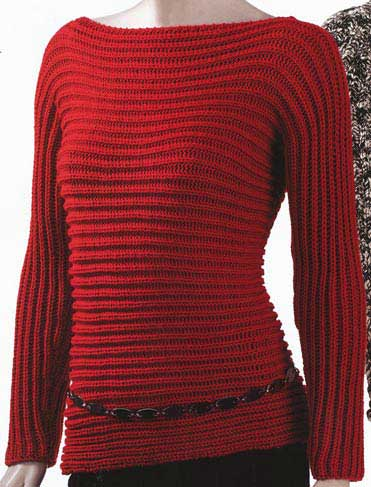 Trina Sleeve to Sleeve Rib Pullover knitting Kit