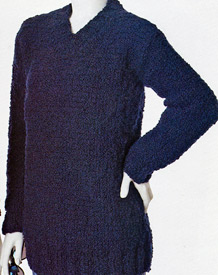 Gina V-Neck Tunic knitting pattern; Adrienne Vittadini Fall Collection 1997 vol 9