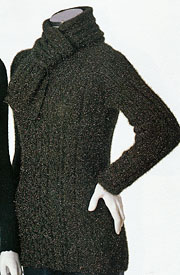 Cristina Cabled Tunic with Scarf knitting pattern; Adrienne Vittadini Fall Collection 1997 vol 9