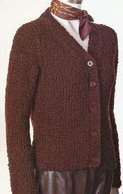 Gina V-Neck Cardigan knitting pattern; Adrienne Vittadini Fall Collection 1997 vol 9